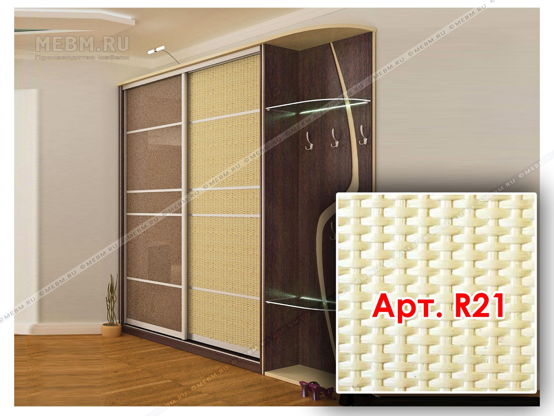 Плетенка на дверях купе шкафы из ротанга - гармония природно.