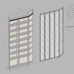 Фото: Книжный шкаф с распашными стеклянными дверьми «MEBM»